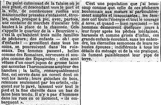 Jules Huret quartier de la Beurière Boulogne-sur-Mer