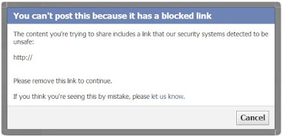Facebook - blocked link