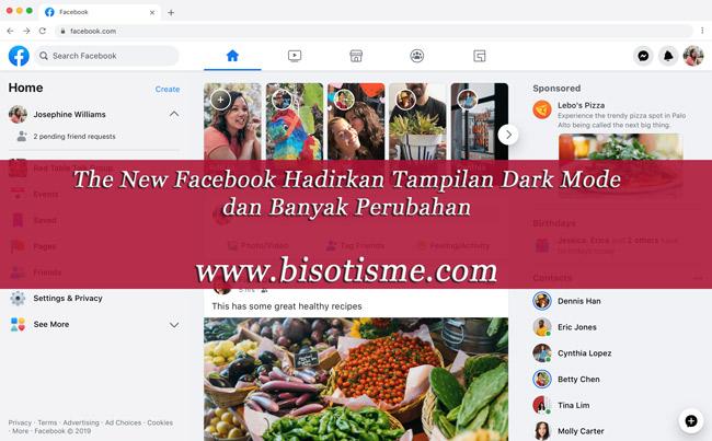 Tampilan desain Facebook desktop baru / FB5
