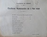 bulletin de vote election municipale 1929 corny eure