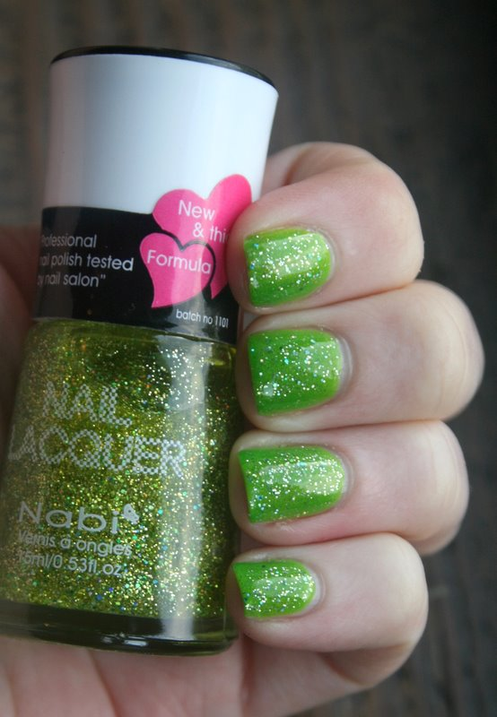 Nabi Cute Punky over Cult Nails Deal With It swatch