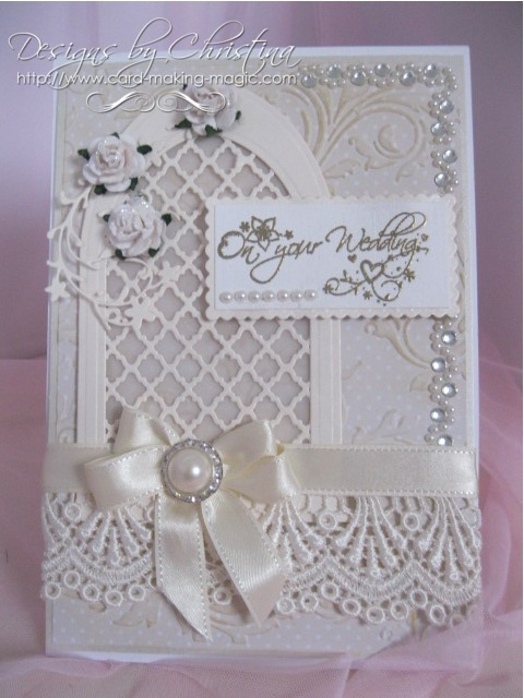 Flowers Ribbons And Pearls Spellbinders Arched Window
