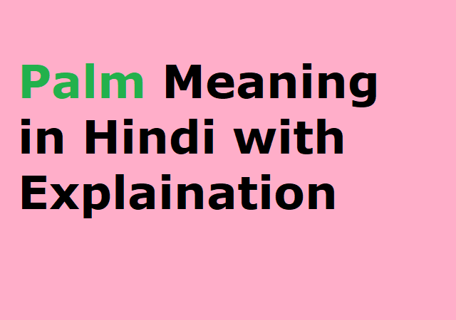 Palm Meaning in Hindi with Explaination