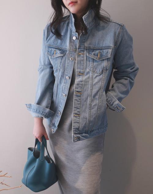 Buttoned Flap Pocket Denim Jacket
