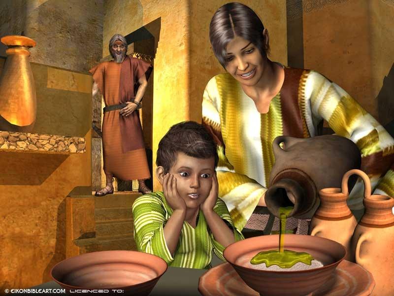 God rewarded the widow's generosity.