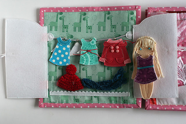 Dollhouse for Lizuca. Handmade fabric/felt dollhouse quiet book for girls. Felt doll dressing