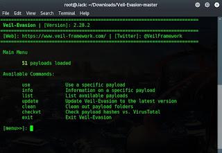 Create FUD Veil-Evasion Payload di Kali Linux