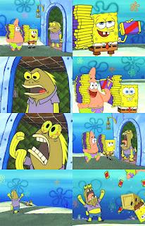 Polosan meme spongebob dan patrick 164 - si maniak coklat mulai menggila mengejar patrick dan spongebob