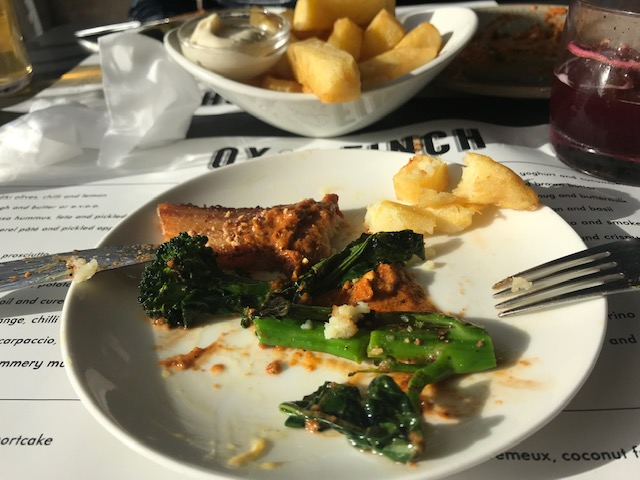 Ox & Finch, Glasgow, Sharing Plates, Food Bloggers, Pork Belly & Chips with Romesco sauce
