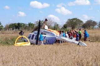 VIDEO : Lombok Tengah Ketiban Helikopter