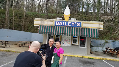 Cinematographer Jeff Dailey records the Morphews at Bailey's Dairy Treat in Hot Springs