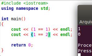 Como fazer comparações em C++
