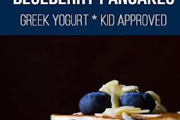 Extra Fluffy Almond Blueberry Pancakes