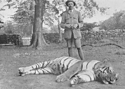 Jim Corbett with a tiger