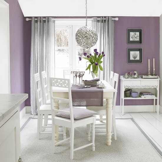 Home Decorating In Violet Color
