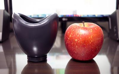 防音カラオケカバーとリンゴを比較した写真