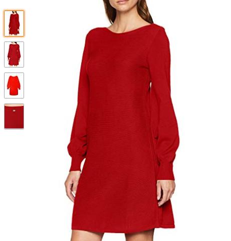 Robe hiver manches longues- rouge ( existe en d'autres couleurs )- Tendance mode femme 2018/2019