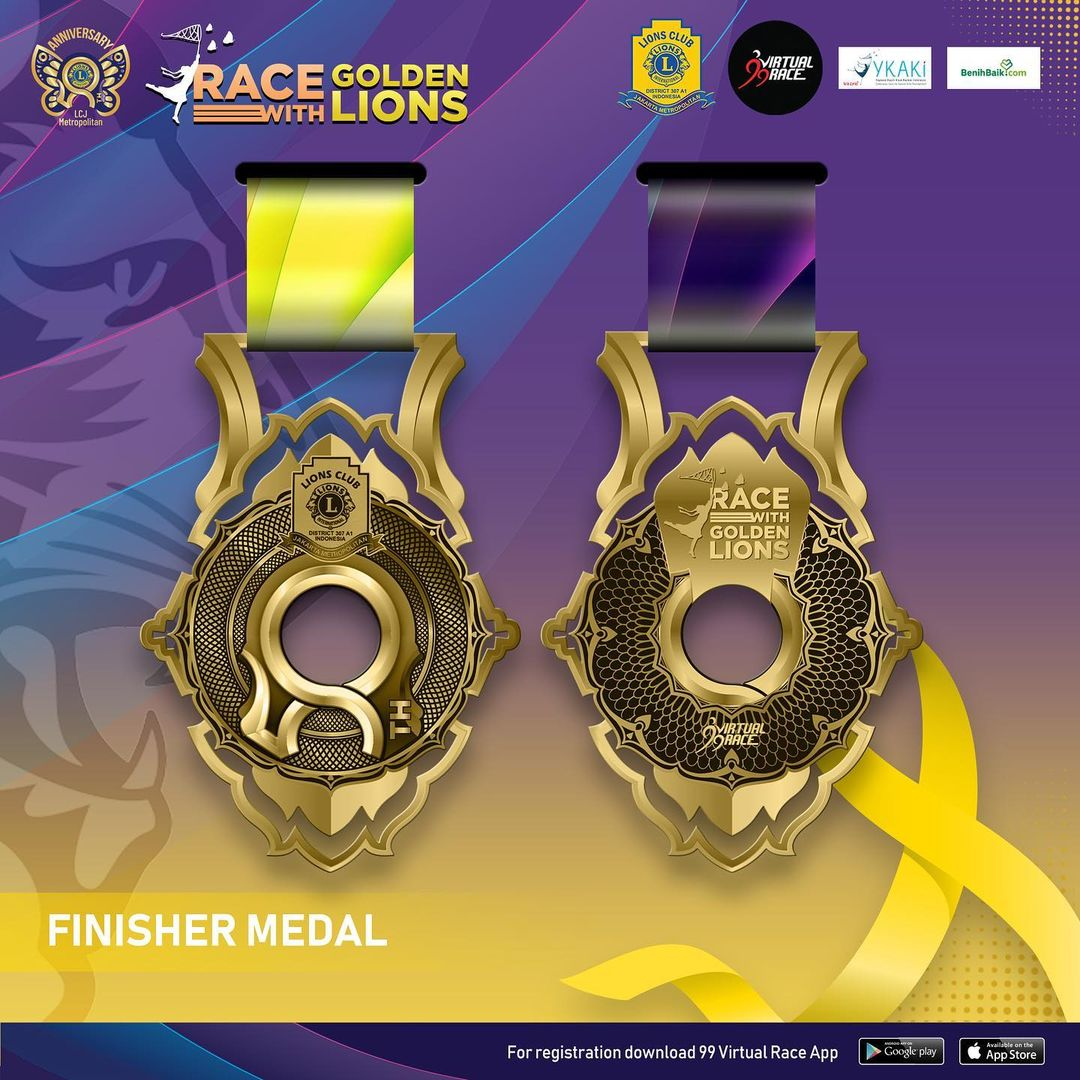 Medal 🏅 Race with Golden Lions • 2021