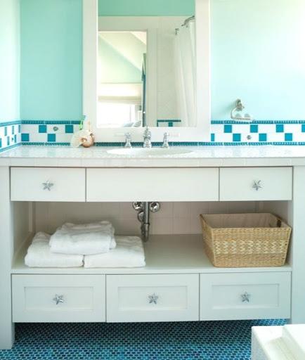 Chrome Starfish Knobs for Bathroom