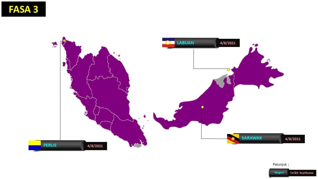negeri fasa 3 terkini ppn 2021 malaysia