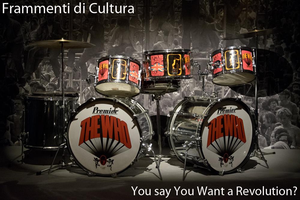 La batteria cromata di Keith Moon, degli Who. Revolution