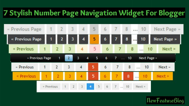 how to add 7 stylish number page navigation widget for blogger
