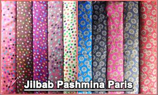 Grosir jilbab pashmina sifon dan paris motif terbaru harga murah