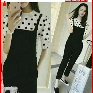 MSF0094 Model Jumpsuit Polka Murah Set Wenda BMG