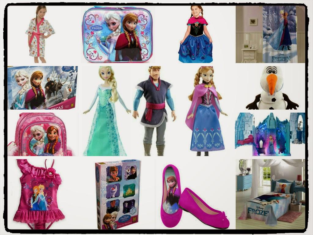 Presentes e brinquedos do Filme Frozen