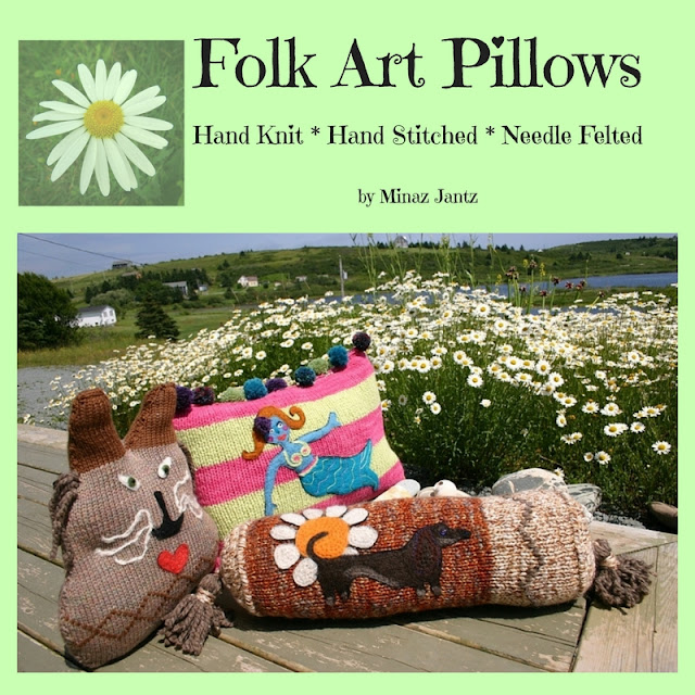 Folk Art Pillows by Minaz Jantz