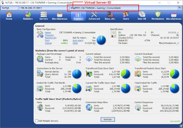 TeamSpeak 3 - Como encontrar o Virtual Server ID