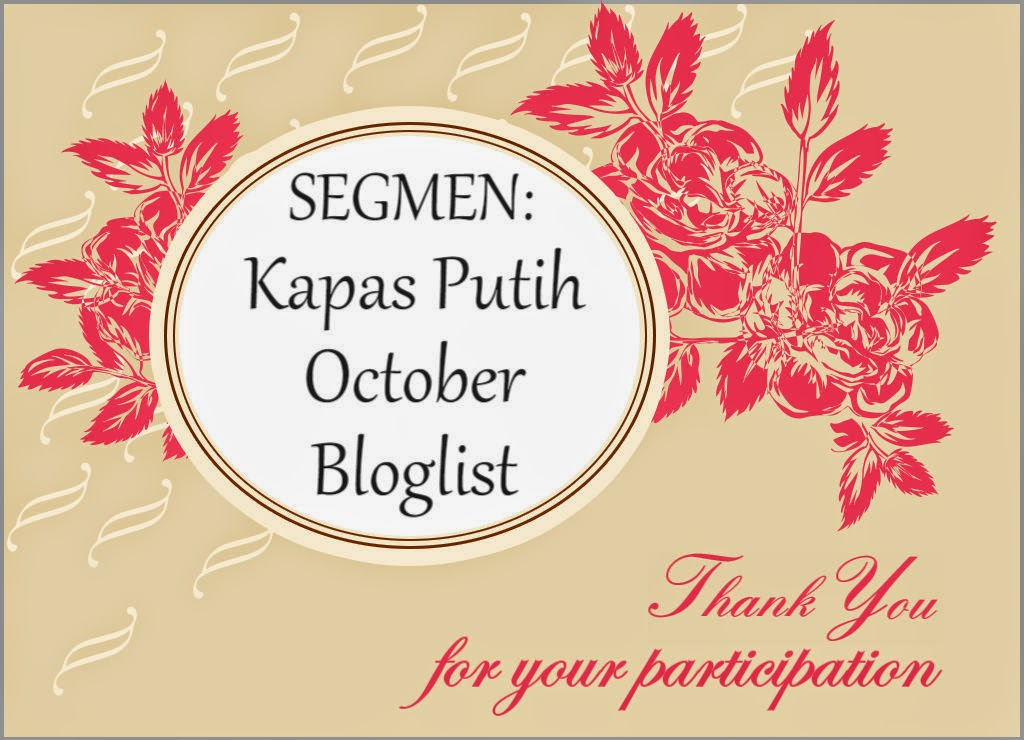SEGMEN: Kapas Putih October Bloglist