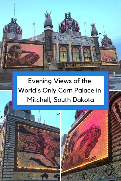 Evening Views of the World's Only Corn Palace in Mitchell, South Dakota