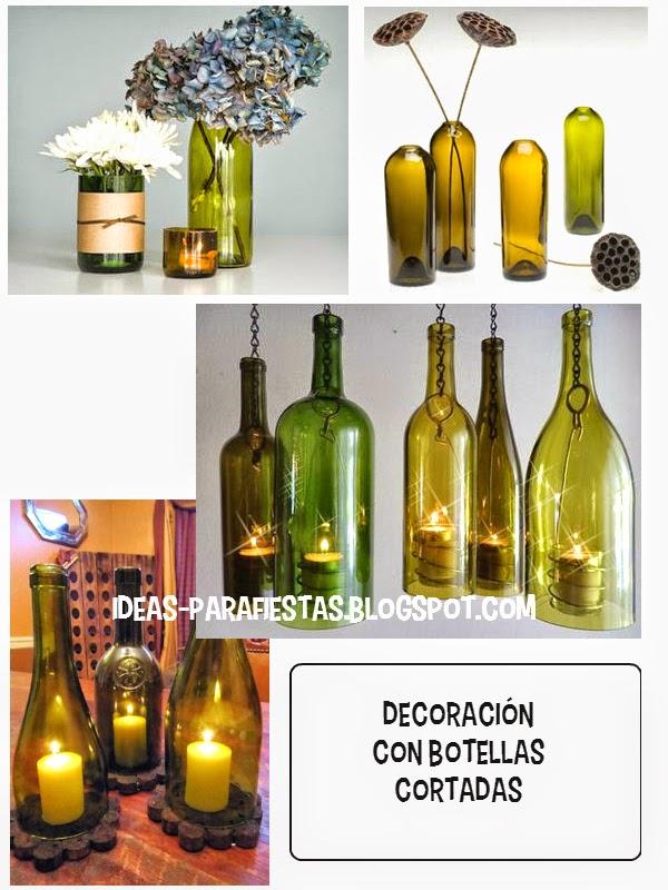 Como cortar botellas para usar en decoracion