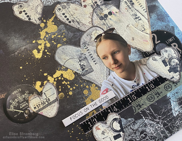 Scrapbook page with AB Studio papers