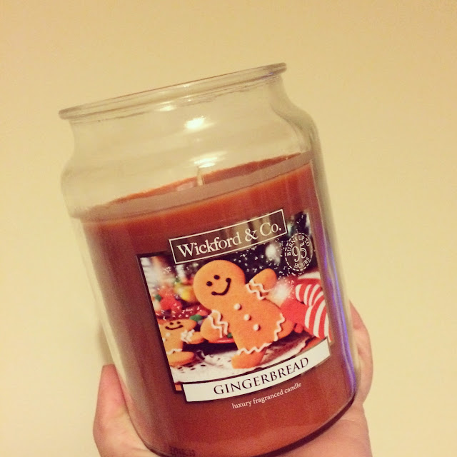 Home bargains gingerbread candle