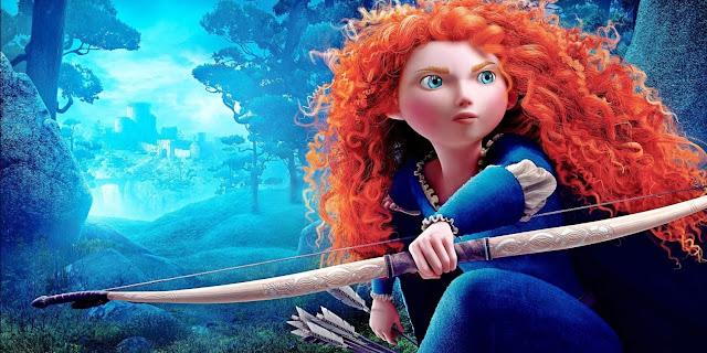 merida é corajosa, valente e uma princesa linda