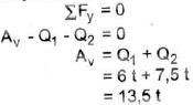 rumus aya reaksi pada arah vertikal pada sistem gerak