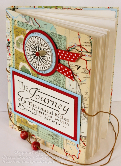 Recycled & Altered Hand Stitched Travel Journal / Book
