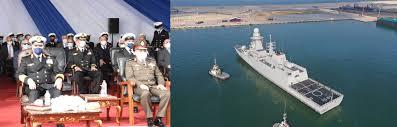 """وصول فرقاطة """"الجلالة """" إلى القاعدة البحرية  بالإسكندرية"""