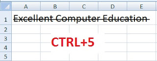 3 Simple Ways to Apply Strikethrough in Excel in Hindi