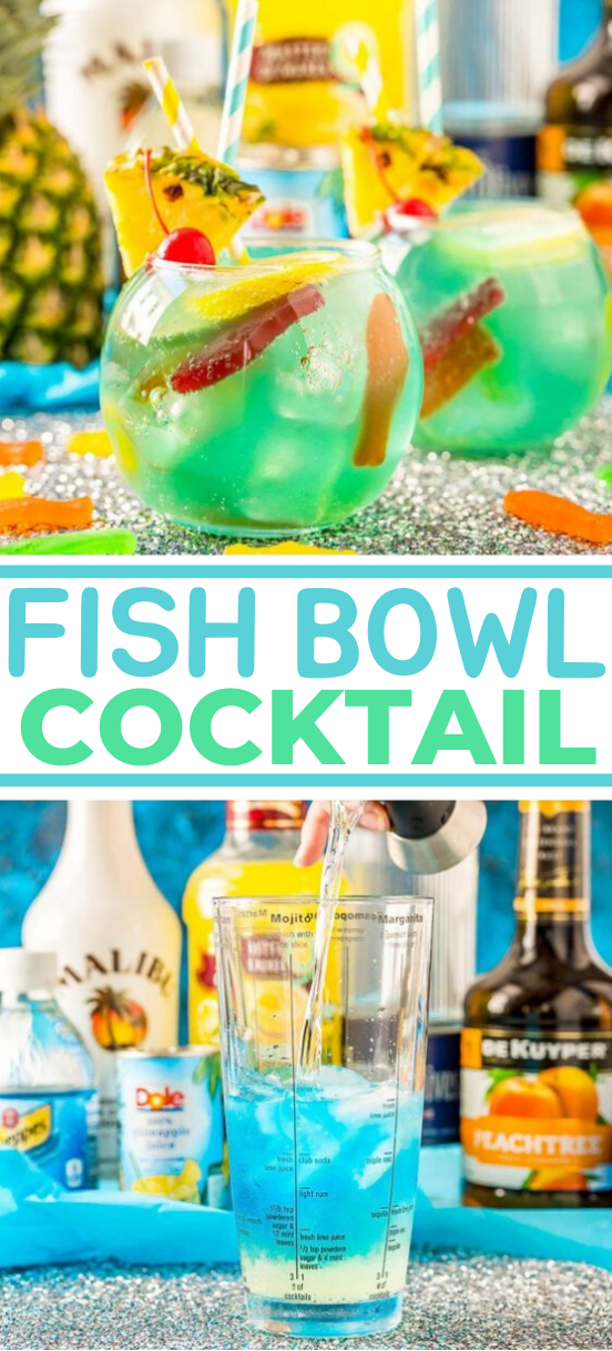 Fish Bowl Drink Party #drink #recipes #cocktails #soda #party