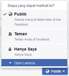 opsi khusus facebook