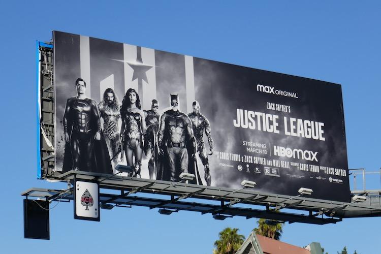 Zack Snyders Justice League film billboard