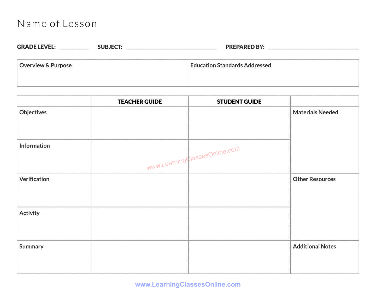 lesson plan template image free download for kindergarden, middle, elementary and high school teachers,free printable and editable lesson plan template for teachers in english
