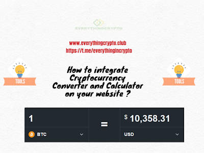 How to integrate Cryptocurrency Converter and Calculator on your website