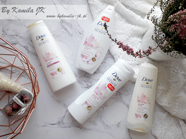 Dove Nourishing Secrets Glowing Ritual nowość balsam żel szampon odżywka  lotos woda ryżowa