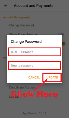 update olx account login password through olx app