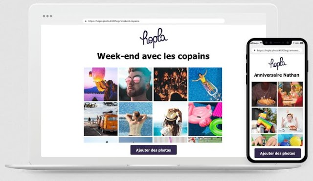 Hopla : solution gratuite de partage de photos