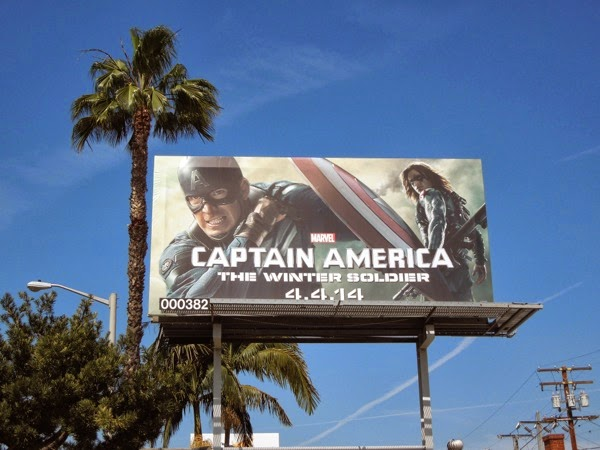 Captain America Winter Soldier billboard